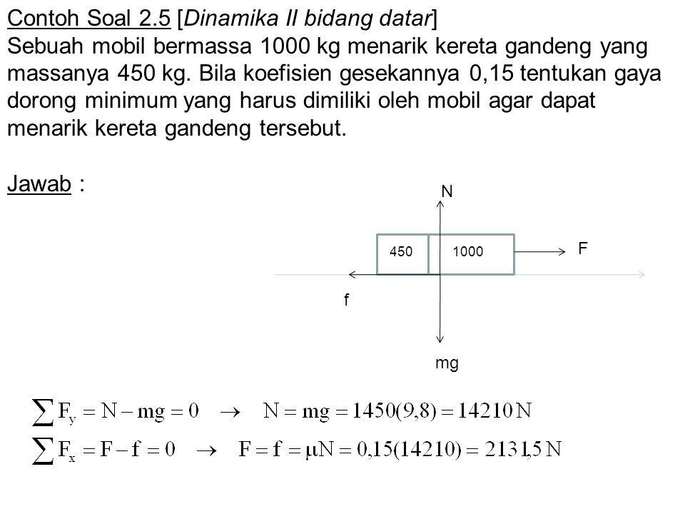 Contoh Soal 2.5 [Dinamika II bidang datar]